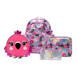 Limited too Girls flamingo backpack set and extras